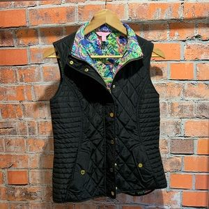 Black quilted Lilly Pulitzer vest